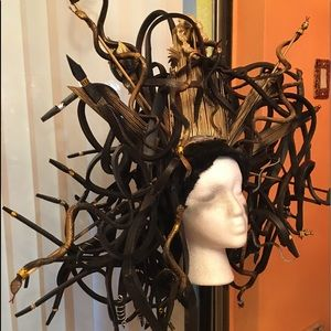 🎃 Handmade Medusa Snake Headpiece Halloween